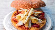 Recette de bagel au poulet, bacon et pomme croquante, pour un repas original et sucré-salé !
