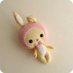 bunny in a bonnet by Gingermelon, via Flickr