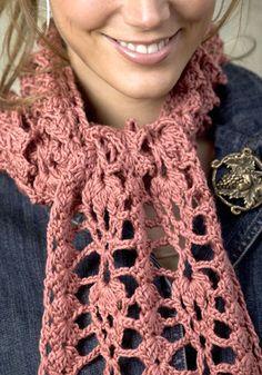 Lovely Lacy Crochet Scarf: free pattern
