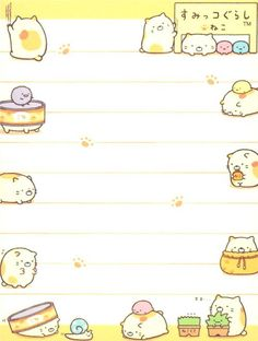Sumikkogurashi yellow mini Note Pad shy cat 4