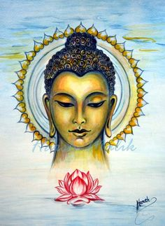 """""""To stay open to the fullness of the human experience requires us to restore trust in the capacity of our heart to meet whatever life brings us.""""   ~ Mark Nepo  Artist:  Harsh Malik Title:   """"Buddha Bliss, Where  Ocean meets Sky'   <3 lis"""