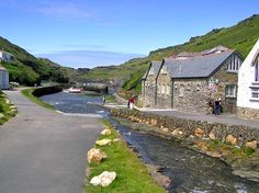 Boscastle, Cornwall UK. I stayed in the YH which was flooded a week later.
