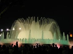 "Light and a musical fountain in Barcelona under the name ""Magic"""