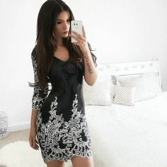 $49.99 Victorian Gold Sequins 3/4 Sleeves Bodycon Dress