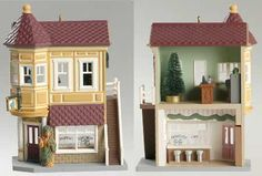 1994 Nostalgic Houses and Shops - Neighborhood Drugstore Hallmark Ornaments, Christmas Ornaments, Vampire House, Dollhouse Miniatures, Dollhouse Ideas, Christmas Centerpieces, The Neighbourhood, Shops, Houses