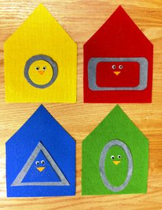 Matching the bird shapes with the right house shapes!  So cute!