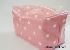 Large oilcloth box makeup bag/ travel bag/ wash bag , fully lined with water resistant fabric - http://oleantravel.com/large-oilcloth-box-makeup-bag-travel-bag-wash-bag-fully-lined-with-water-resistant-fabric
