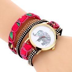 Hoy con el 42% de descuento. Llévalo por solo $7,900.Las mujeres de cuarzo pulsera reloj elefante patrón reloj de pulsera.