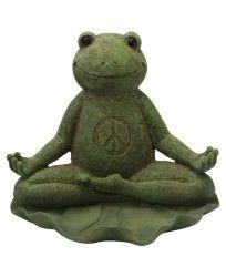 Yoga Frogs   Zen Décor   Garden Statues