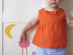 Orange crush toddler top - despite the stain on your left side : P