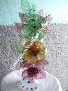 Ge Artesanatos.com: Vaso Feito com Pet ( Reciclagem)