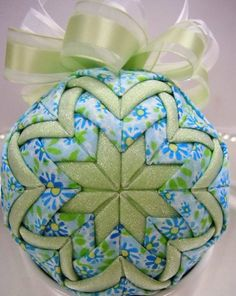 Handmade Quilted Christmas Ornament  Spring by NorthernKeepsakes, $16.00