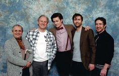 Picture taken at the Project Motormouth convention. — with Sylvester McCoy, Peter Davison, David Tennant and Paul McGann.