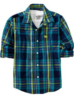 Old Navy | Boys Plaid Poplin Shirts