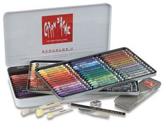 The quality of Neocolor II Aquarelle Artists' Crayons is universally acknowledged. Their excellent lightfastness, high pigment concentration, and adaptability to a variety of techniques have put them in a class of their own.