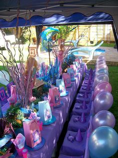 WAOUH - Déco table anniversaire sirène