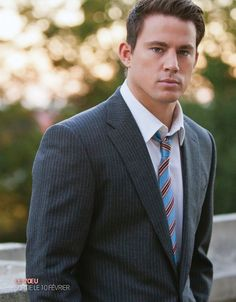 Channing Tatum...perfectly fit suit jacket.