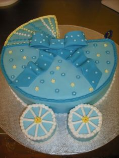 Baby Carriage Cake.
