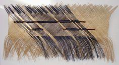 Sonny Hau Harakeke Waeve maori art kura gallery auckland wellington new zealand wall hanging Flax Weaving, Weaving Art, Basket Weaving, Africa Craft, Maori People, Maori Designs, New Zealand Art, Maori Art, Plant Fibres