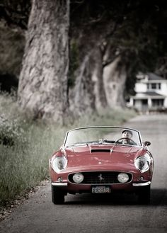 vintage ferrari-my love of cars is nearly as strong for my love of beyoncé, that's deep.