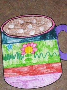 Great project for a snow day - decorate a mug of cocoa. Also other great craft ideas on this blog.