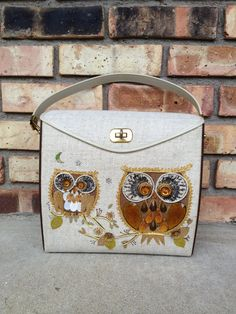 1960s Owl Jewel Purse A Kitschy Hoot Handbag by VintageBunker, $34.00