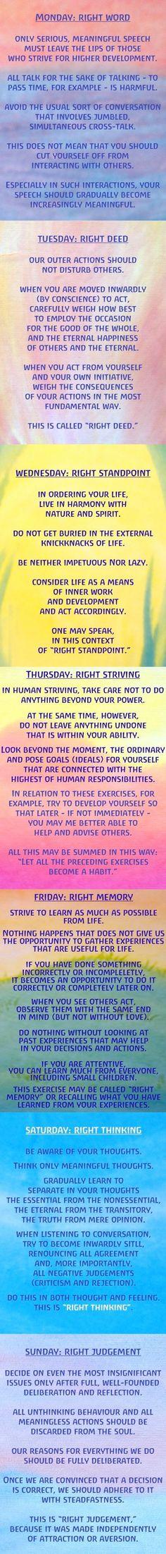 energies of each day of the week by Rudolf Steiner
