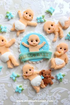 Baby Fondant Cupcake Toppers by mimicafe Union