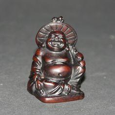 Lachende Boeddha zittend wierookhouder, polystone, 5cm (62-C) -