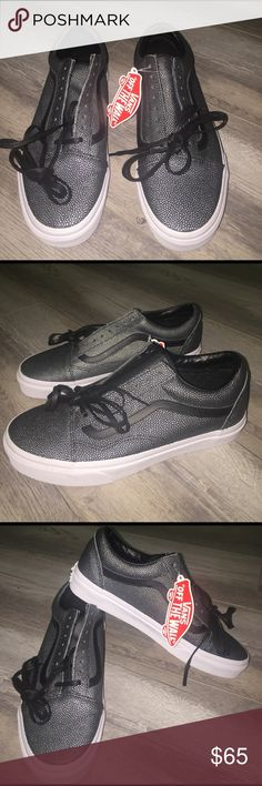"""Vans Old Skool Sneakers - Embossed Stingray/Black VANS Old Skool Sneakers Shoes """"Embossed Stingray"""" Black/Grey resembles the ocean creatures features with this very unique, rare, and one of a kind sneaker 