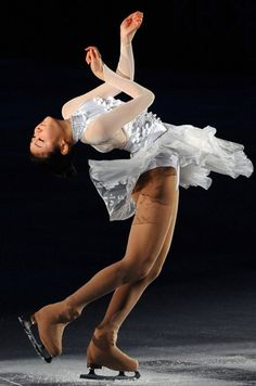 Yuna Kim  White Figure Skating / Ice Skating dress inspiration for Sk8 Gr8 Designs.