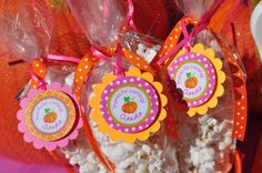 Pumpkin 1st Birthday Favor Tags Thank You Tags by sosweetpartyshop