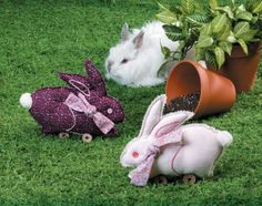 These little bunnies stitch up quickly -- and make an adorable addition to an Easter basket or a shelf.