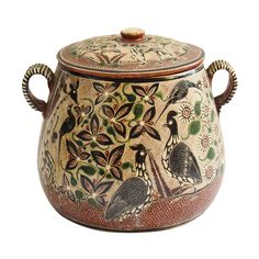 Signed Petatillo Pot, Jalisco | From a unique collection of antique and modern pottery at http://www.1stdibs.com/furniture/more-furniture-collectibles/pottery/