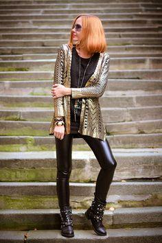 Golden knight (of Cydonia) | gvozdiShe Golden Knights, Personal Style, Leather Pants, Punk, People, Metallic, Street, Blog, Fashion