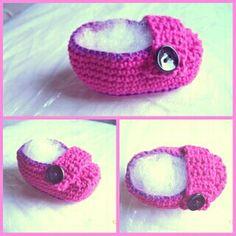 Sapatinho de bebê #Croche
