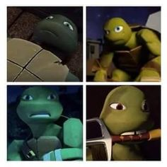 Mikey, Raph and Donnie all look normal without their masks. But Leo... I love you Leo but you kinda look weird without your mask