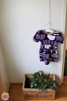 Purple summer dress for kid