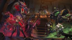 Blizzard reveals the newest expansion coming to Hearthstone: Heroes of Warcraft, entitled Mean Streets of Gadgetzan, with 132 new cards and tri-class cards on the way. Warcraft Art, World Of Warcraft, Nova, Cinematic Trailer, Illustration Story, Illustrations, Blizzard Hearthstone, Hearthstone Game, Keys Art
