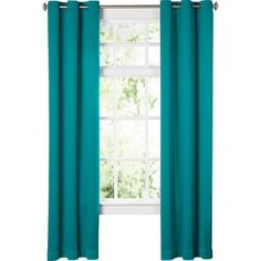 Wayfair Basics Solid Blackout Grommet Single Curtain Panel ($11) ❤ liked on Polyvore featuring home, home decor, window treatments, curtains, grommet window panels, grommet curtains, blackout window coverings, black out curtains and black out curtain panels