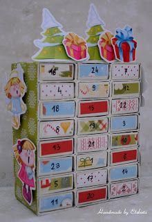 Handmade by Elżbieta: Kalendarz adwentowy Decoration, Cardmaking, Diy And Crafts, Calendar, Holiday Decor, Christmas, Home Decor, Xmas, Advent Calendar