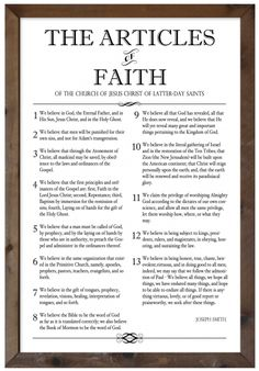 Superb image with regard to lds articles of faith printable