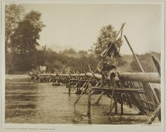 Native American Edward Curtis Hupa Fish-weir Across Trinity River, via Flickr.