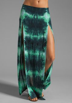 BLU MOON Two Slit Skirt in Aqua Tie Dye at Revolve Clothing - Free Shipping!