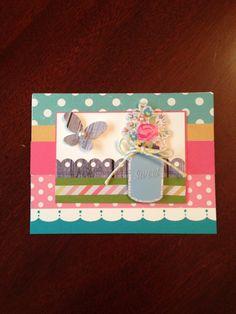 Sweet butterfly card