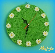 Hey, I found this really awesome Etsy listing at https://www.etsy.com/ru/listing/230220242/unique-crochet-wall-clock-summer-time