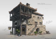 Town House, Gabe Kralik on ArtStation at https://www.artstation.com/artwork/OEvWK