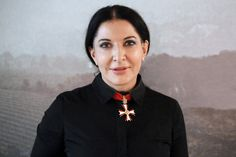 """Marina Abramović (Serbian Cyrillic: Марина Абрамовић, Serbo-Croatian pronunciation: [marǐːna abrǎːmoʋitɕ]; born November 30, 1946) is a Serbian-born artist based in New York, a performance artist who began her career in the early 1970s. Her work explores the relationship between performer and audience, the limits of the body, and the possibilities of the mind. Active for over three decades, she has recently begun to describe herself as the """"grandmother of performance art."""""""