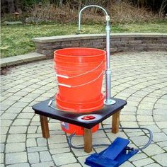 Camping hand washing field sink DIY project