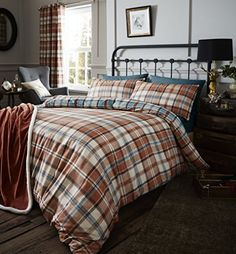 From 15.99:Catherine Lansfield Heritage Kelso Check Duvet Set Spice King | Shopods.com